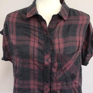 Cute Cloth and Stone Plaid Shirt!!